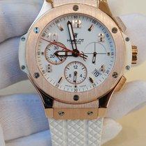 Hublot Big bang 40mm Rose gold watch white rubber strap