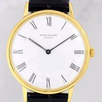 Patek Philippe Calatrava White roman dial 18K Gelb Gold...