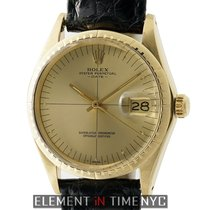 Rolex Oyster Perpetual Zephyr Date 14k Yellow Gold Champagne...