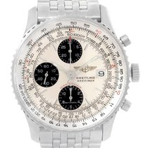 Breitling Navitimer Fighter Chronograph Steel Watch A13330 Box...