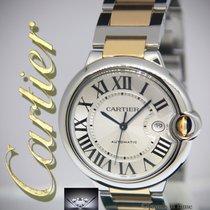 Cartier Ballon Bleu Date Large 18k Yellow Gold/Steel 42mm Mens...