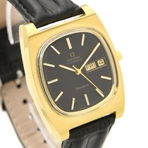 Omega Geneve Automatic Gold Plated Quickset Watch #j728