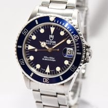 Tudor Submariner Prince Date Blau Stahl Papiere Box 1997