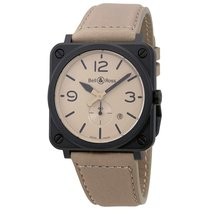 Bell & Ross Men's BRS-DESERT-CEM Aviation Desert Type...