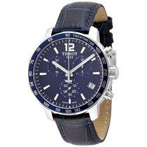 Tissot Men's  Blue Leather Swiss Quartz Watch
