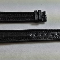 Lucien Rochat vintage black leather strap mm 17 newoldstock