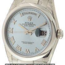 Rolex Day-Date President Platinum Ice Blue Roman Dial Ref. 118206