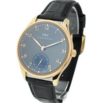 IWC IW545406 Portuguese Hand-Wound - Rose Gold On Strap with...