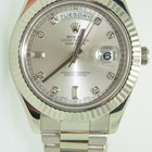 Rolex Day Date II 218239 ,White Gold,factory diamond dial,Full...