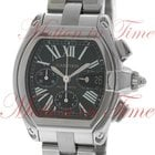 Cartier Roadster Extra Large Chronograph, Black Dial -...