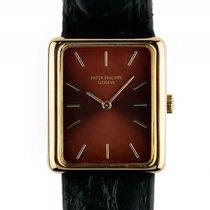 Patek Philippe Rectangulare Gelbgold Handaufzug Armband Leder...