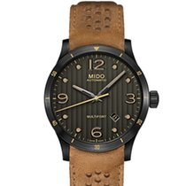 Mido Multifort Grey / Brown Leather Analog Automatic Men's...