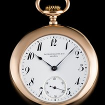 Patek Philippe & Cie 18k R/G White Enamel Pocket Watch...