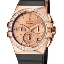 Omega Beijing Olympics Limited Edition Gold watch Retail $24,100-