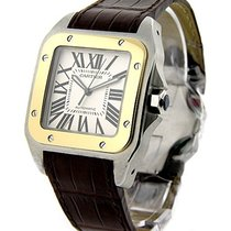 Cartier W20072X7 Santos 100 Large Size in 2-Tone - On Brown...
