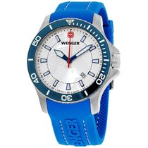 Wenger 010641112 Blue Dial Silicone Strap Men's Watch