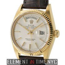 Rolex Day-Date 18k Yellow Gold 36mm Silver Index Dial Circa...