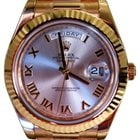 Rolex Day-Date II President 218238 Silver Roman Yellow Gold 2016