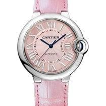 Cartier WSBB0007 Ballon Bleu Automatic in Steel - On Pink...