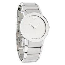 Movado Sapphire Mens Mirror Dial Swiss Quartz Watch 0606093