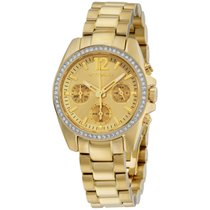 Wittnauer Wn4074 Ladies Lucy Gold Plated Chronograph Watch...