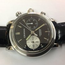 Graham Chronograph Rattrapante and Foudroyante and steel