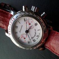 Lemania 1872 Mercedes Benz Chronograph Handaufzug Stahl