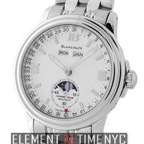 Blancpain Leman  Villeret Moonphase Stainless Steel 38mm White...