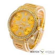 Jacob & Co. 5 TIME ZONE FULL GOLD , FACTORY  DIAMONDS,...