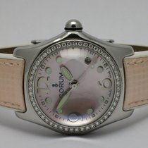 "Corum ""Bubble Lady Diamonds"" Steel 35mm. case"