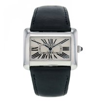 Cartier Tank Divan Stainless Steel Automatic White Dial...
