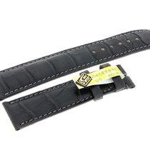 Chronoswiss Lederarmband Armband Krokoleder dunkel grau 20x18