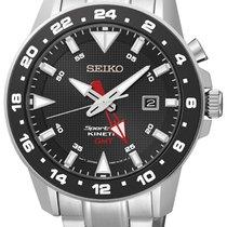 Seiko SUN015P1 Sportura Kinetic GMT Herren m. Stahlband 100M