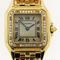 Cartier Panthere Small WF3070B9 Ladies 18k Yellow Gold Diamond...
