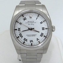 Rolex Unworn Rolex Stainless Steel Oyster Perpetual White...