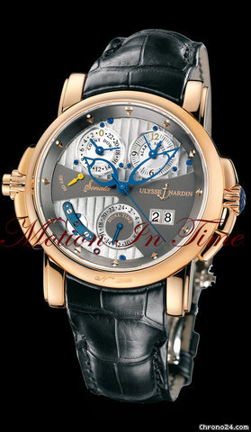 Ulysse Nardin SONATA CATHEDRAL DUAL TIME ALARM ROSE GOLD 42mm