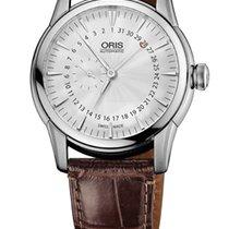 Oris Artelier Pointer Date Leather Bracelet