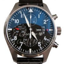IWC Pilot Chronograph IW3777-01 Stainless Steel Black IW377701...