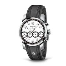 Eberhard & Co. Chrono 4 bianco dettagli neri, cinturino in...