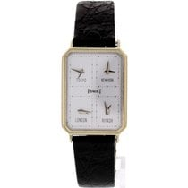 Piaget Men's 18k White Gold Piaget World Time 15402