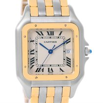Cartier Panthere Jumbo Steel 18k Yellow Gold Three Row Watch