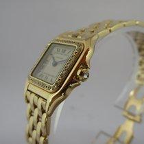 Cartier Panthere 18K Gold Quartz mit Diamantlünette