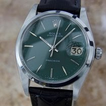 Rolex Oysterdate 1977 Precision 6694 Manual Stainless Mens...