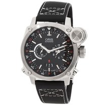 Oris BC4 Flight Timer 42.7mm Black Dial GMT NEW