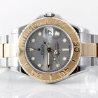 Rolex 35MM 18K/SS Midsize Yachmaster - Silver Marker Dial -...