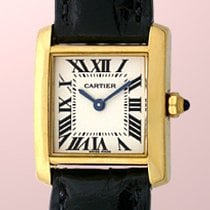 """Cartier """"Tank Francaise"""" Strapwatch."""