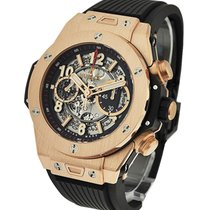 Hublot 411.OX.1180.RX Big Bang Unico in Rose Gold - on Black...