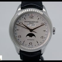 Baume & Mercier Clifton steel automatic watch, day/date/mo...