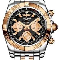 Breitling Chronomat Black Dial 18k Rose Gold & Steel CB011012