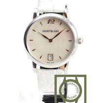 Montblanc Star Classique Lady White 34mm crocodile strap NEW